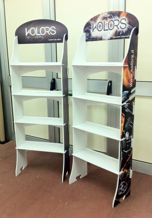 Espositore EASY SHELF 4 ripiani in forex