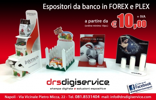 espositori da banco in forex e plex